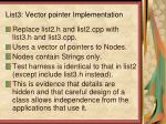 list3 vector pointer implementation