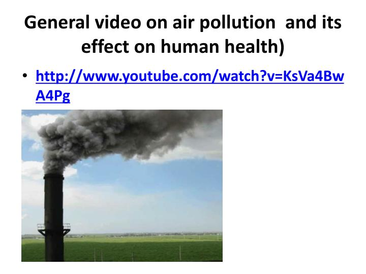 the effect of air pollution essay Nevertheless, the effects of air pollution are shocking it causes numerous diseases in human organisms, animals, natural crops, ruins the balance of the environmental system, and even causes deaths air pollution is the largest environmental pollution risk factor.