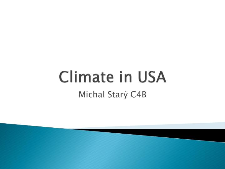 Climate in usa
