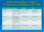 adec drinking water program for assistance in producing your ccr