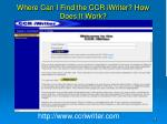 where can i find the ccr iwriter how does it work