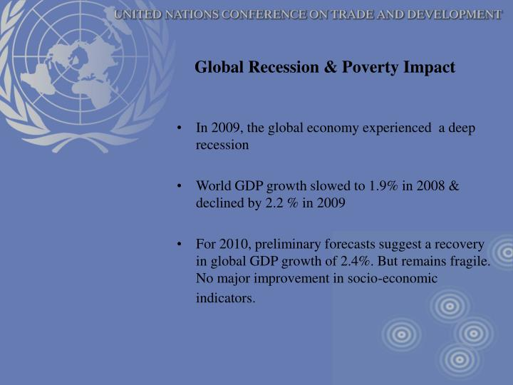 Global Recession & Poverty Impact