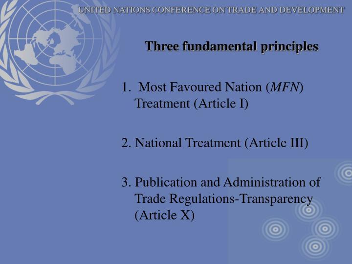 Three fundamental principles