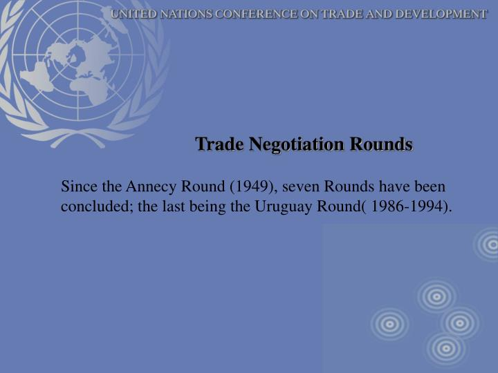 Trade Negotiation Rounds