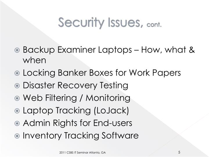 Security Issues,