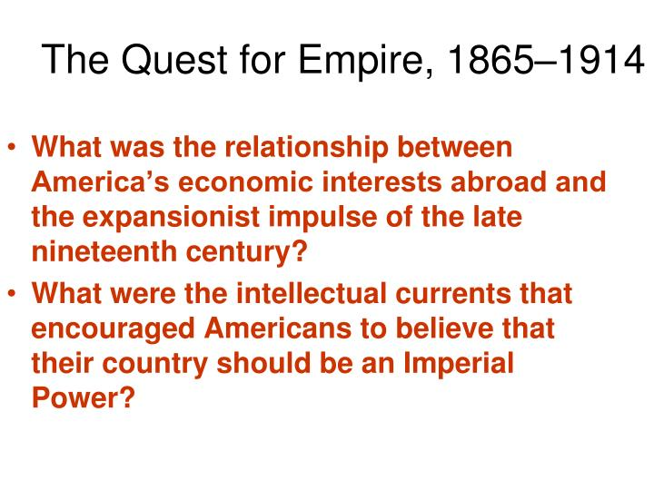 the quest for empire 1865 1914 n.