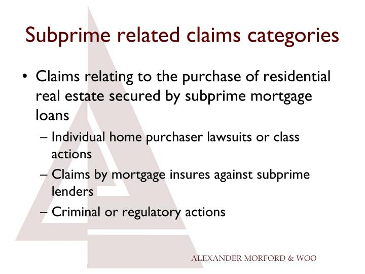 countrywide subprime lending crisis Bank of america home loans is the mortgage unit of bank of america in 2008, bank of america purchased the failing countrywide financial for $41 billion in 2006, countrywide financed 20% of all mortgages in the united states, at a value of about 35% of united states gdp, a proportion greater than any other single mortgage lender.