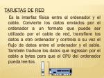 tarjetas de red