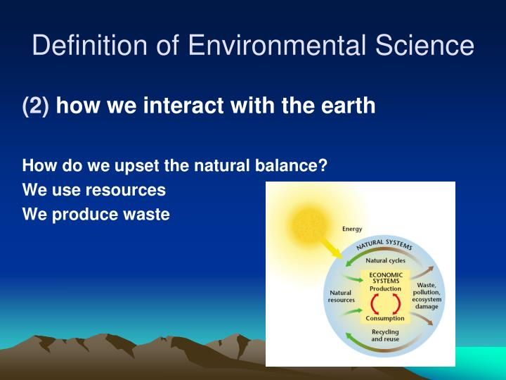 energy definition in environmental science