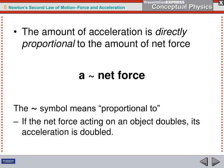 Ppt An Object Accelerates When A Net Force Acts On It Powerpoint