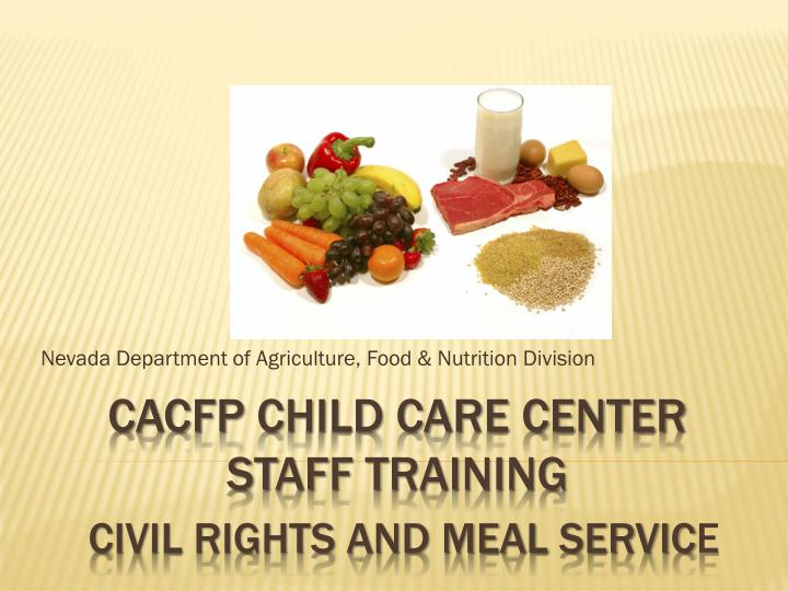Nevada department of agriculture food nutrition division