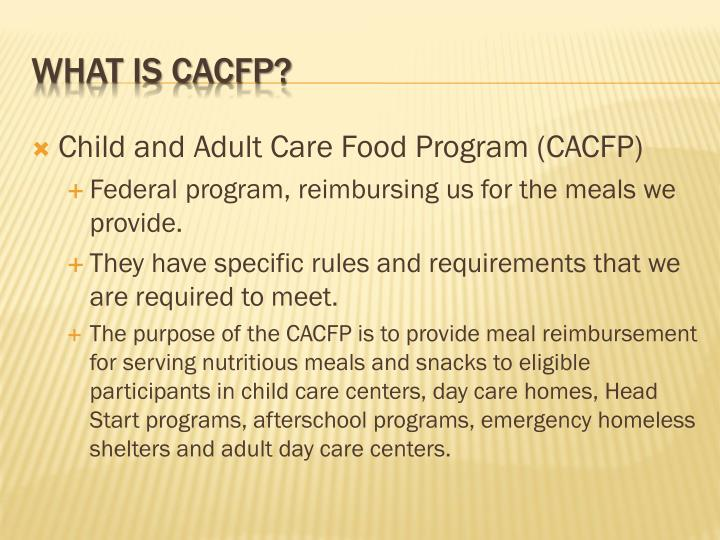 What is cacfp