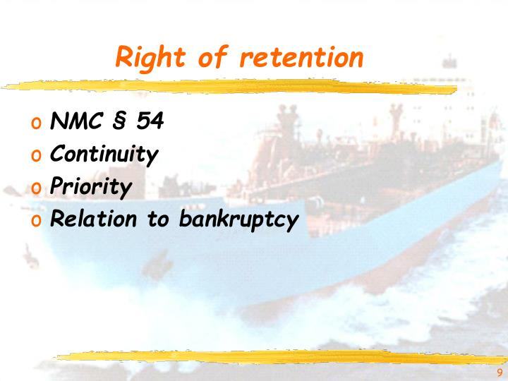 Right of retention