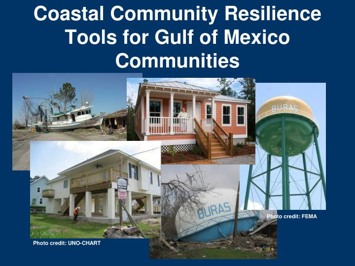 coastal community resilience tools for gulf of mexico communities n.
