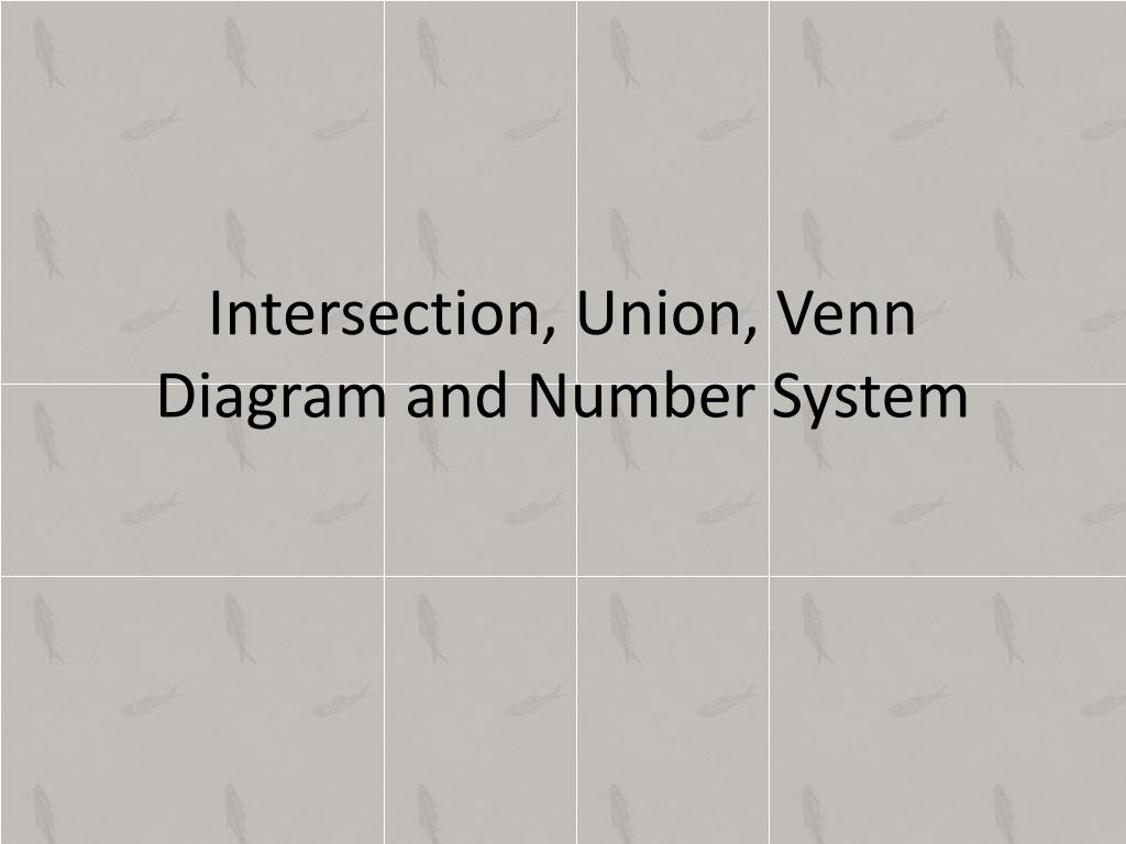 Intersection Union Venn Diagram And Number System N