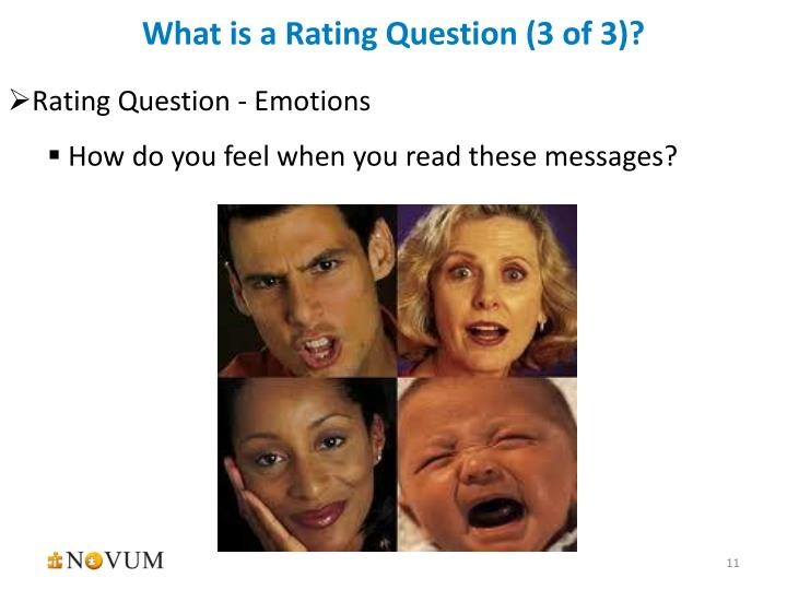 What is a Rating Question (3 of 3)?