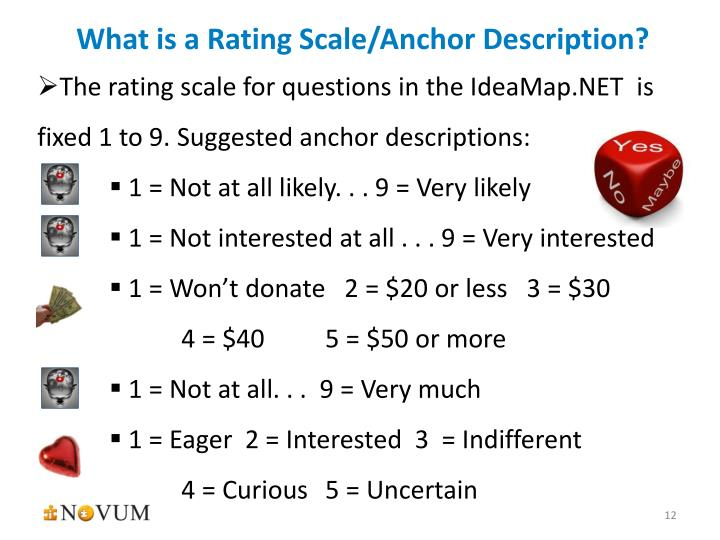 What is a Rating Scale/Anchor Description?