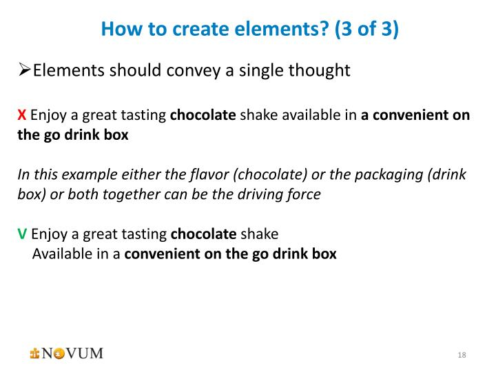 How to create elements