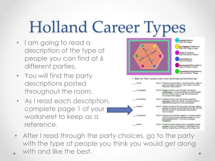 Holland career types