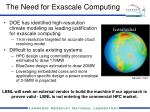 the need for exascale computing