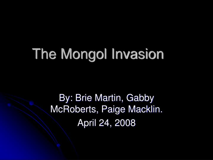 the mongol invasion n.