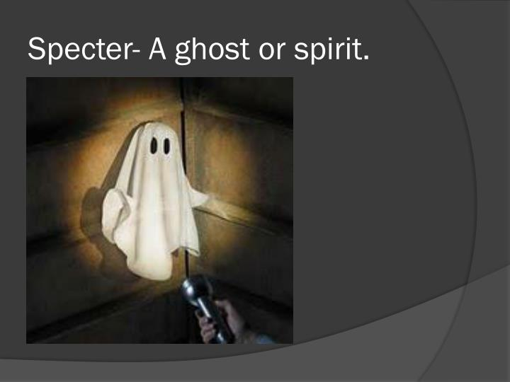 Specter a ghost or spirit