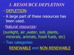 1 resource depletion