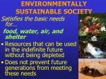 environmentally sustainable society