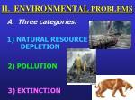 ii environmental problems