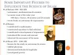 some important figures to influence the science of islam