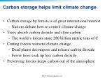 carbon storage helps limit climate change