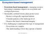 ecosystem based management