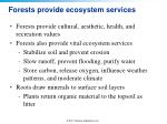 forests provide ecosystem services
