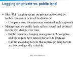 logging on private vs public land