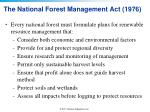 the national forest management act 1976