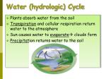 water hydrologic cycle