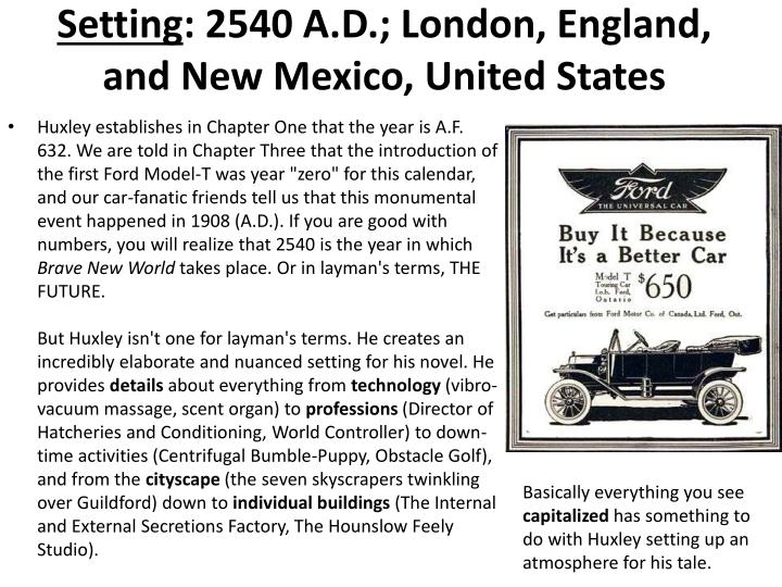Setting 2540 a d london england and new mexico united states