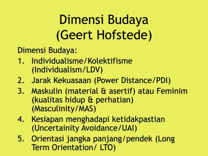 geert hofstede long term orientation Hofstede's dimensions the four core dimensions are power distance, individualism versus collectivism, masculinity versus femininity and uncertainty avoidance partly in response to the criticisms mentioned above, a fifth dimension focused on long and short term time orientation based initially on a survey developed with chinese employees was.