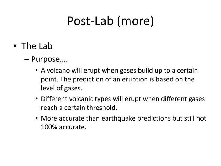 Post lab more