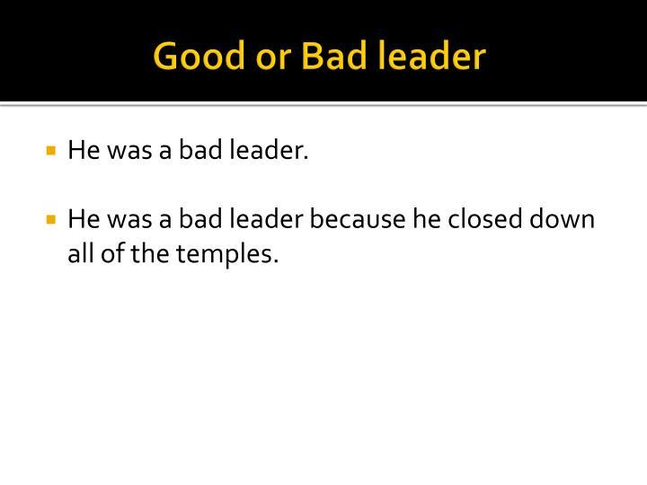 Good or bad leader