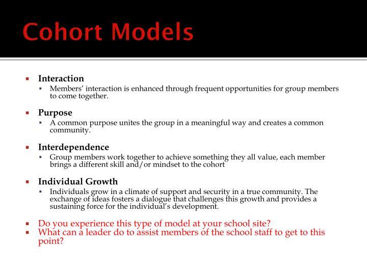 Cohort Models