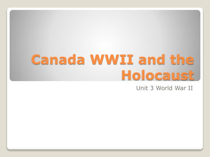 canada wwii and the holocaust n.
