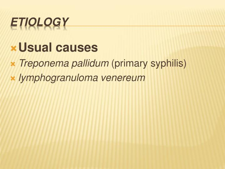 Usual causes
