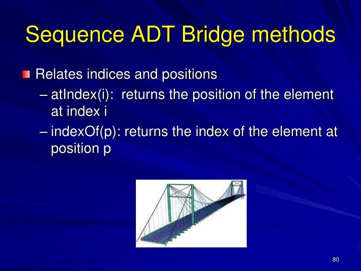 Sequence ADT Bridge methods