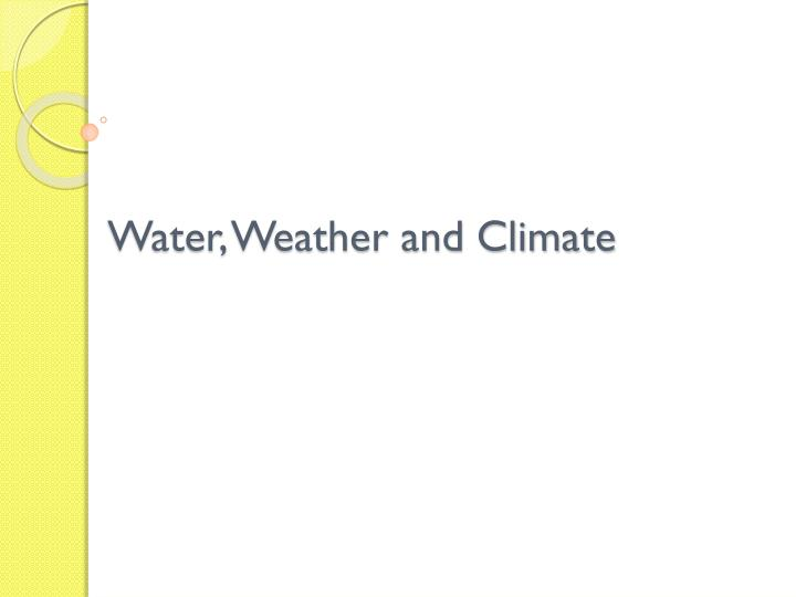 water weather and climate n.