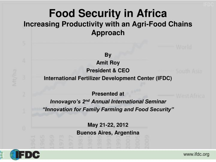 food security in africa increasing productivity with an agri food chains approach n.
