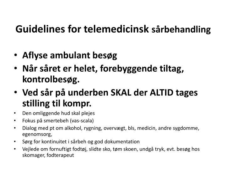 Guidelines for telemedicinsk