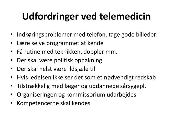 Udfordringer ved telemedicin