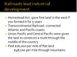 railroads lead industrial development