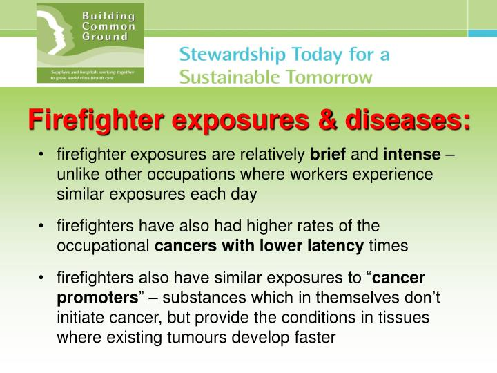 Firefighter exposures & diseases: